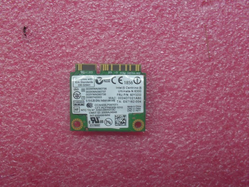 New Lenovo ThinkPad T430s X230i X230 T430i T430 T430si T530 X220 T520 W520 Wireless WLAN Card 60Y3233