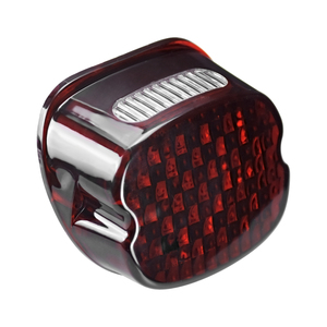 Image 2 - Motorcycle LED Running Tail Light Red Lens Brake License Plate Lamp Rear Stop Lights For Harley Sportster Touring Dyna Softail
