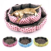 Hot Sale! Rhombus Cat Bed House Soft sofa Kennel Pet Dog Beds Puppy Cushion Cats Nest Winter Warm Supplies S/M Drop ship