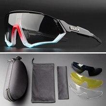 Photochromic ciclismo eyewear esportes ao ar livre ciclismo óculos de sol masculino mountain bike óculos feminino ciclismo eyewear 4 lente