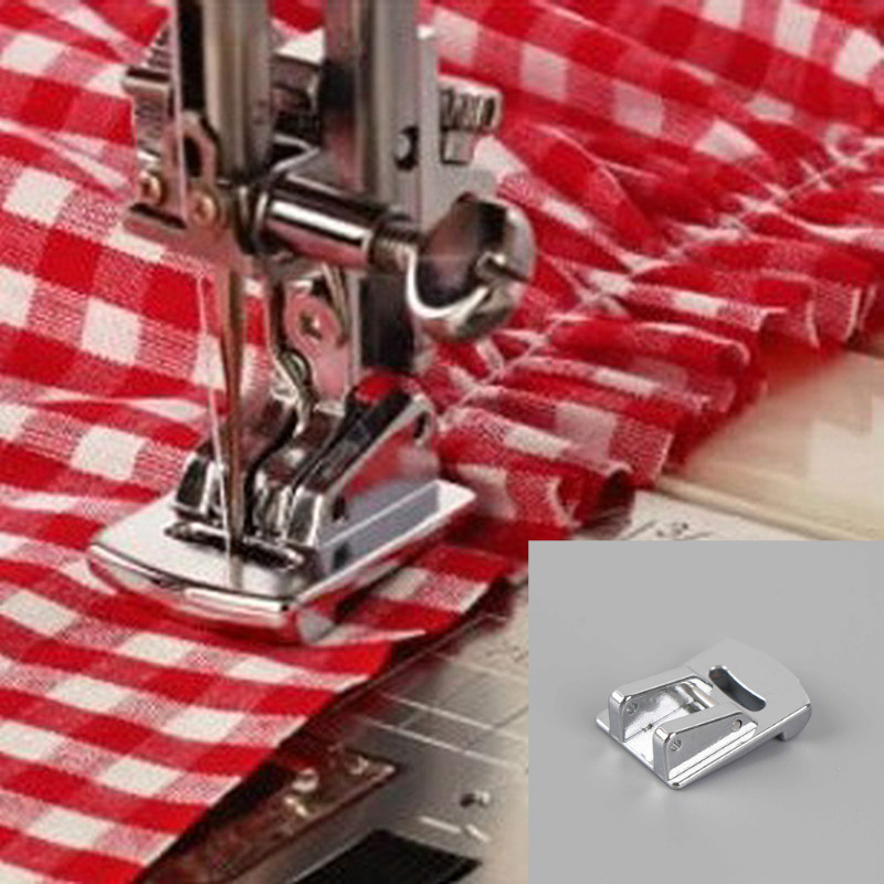Hot Sale 1PC Rolled Hem Curling Sewing Presser Foot For Sewing Machine Singer Janome Sliver Tone