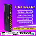 HD815B HDMI 5 1 аудио конвертер декодер DAC DTS AC3 FLAC APE 4K * 2K HDMI к HDMI экстрактор конвертер сплиттер цифровой SPDIF ARC
