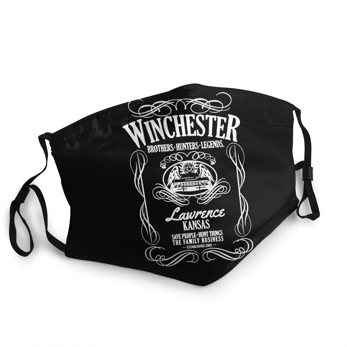 Winchester máscara de boca no desechable máscara Supernatural antipolvo máscara de protección mascarilla respirador mufla de la boca FDBRO-mascarilla deportiva para correr, entrenamiento Fitness, gimnasio, elevación de bicicleta, entrenamiento de altura alta, acondicionamiento físico, máscaras deportivas 3,0