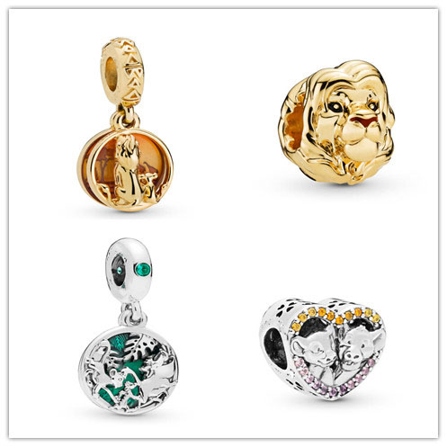 Pandora Women Bracelets Bangles Necklace Jewelry Charms Pendant-Beads SIMBA PUMBAA TIMON