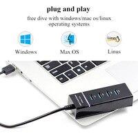 נייד מחברת HUB USB וגם הסלסילה העמוסה 3.0 USB חיצוניים 4 Power Port עבור מפצל USB 4 יציאות מחברת מחשב נייד Windows Mac Linux עם LED HUB-USB (5)