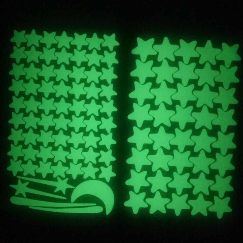 Bzoosio Dán Tường Phòng Trăng Sao Dán Tường 103 Chiếc Trăng Sao Dạ Quang Trẻ Em Trang Trí Phòng Наклейки На Стену Giá Rẻ giao Hàng D5