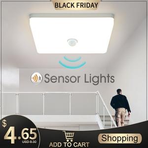 LED Ceiling Lights PIR Motion Sensor Smart Home Lighting AC85-265V 9W 13W 18W 24W 36W Ceiling Lamp For Room Hallways Corridor