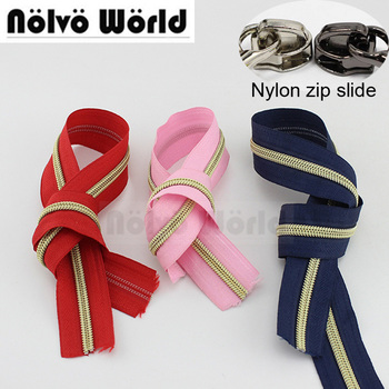 9 Colors,50yards/lot 5# Nylon Coil Zipper,No.5 Plastic Zippers Zip For Leather Working Bags,purse,clothing Pants Sewing