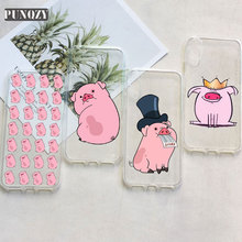 цена на Cartoon Cute pink Pig art gifts Phone Case For iphone 11 pro max 6 6S 7 8 Plus 5 5S 4S X XR XS MAX TPU Silicone Case