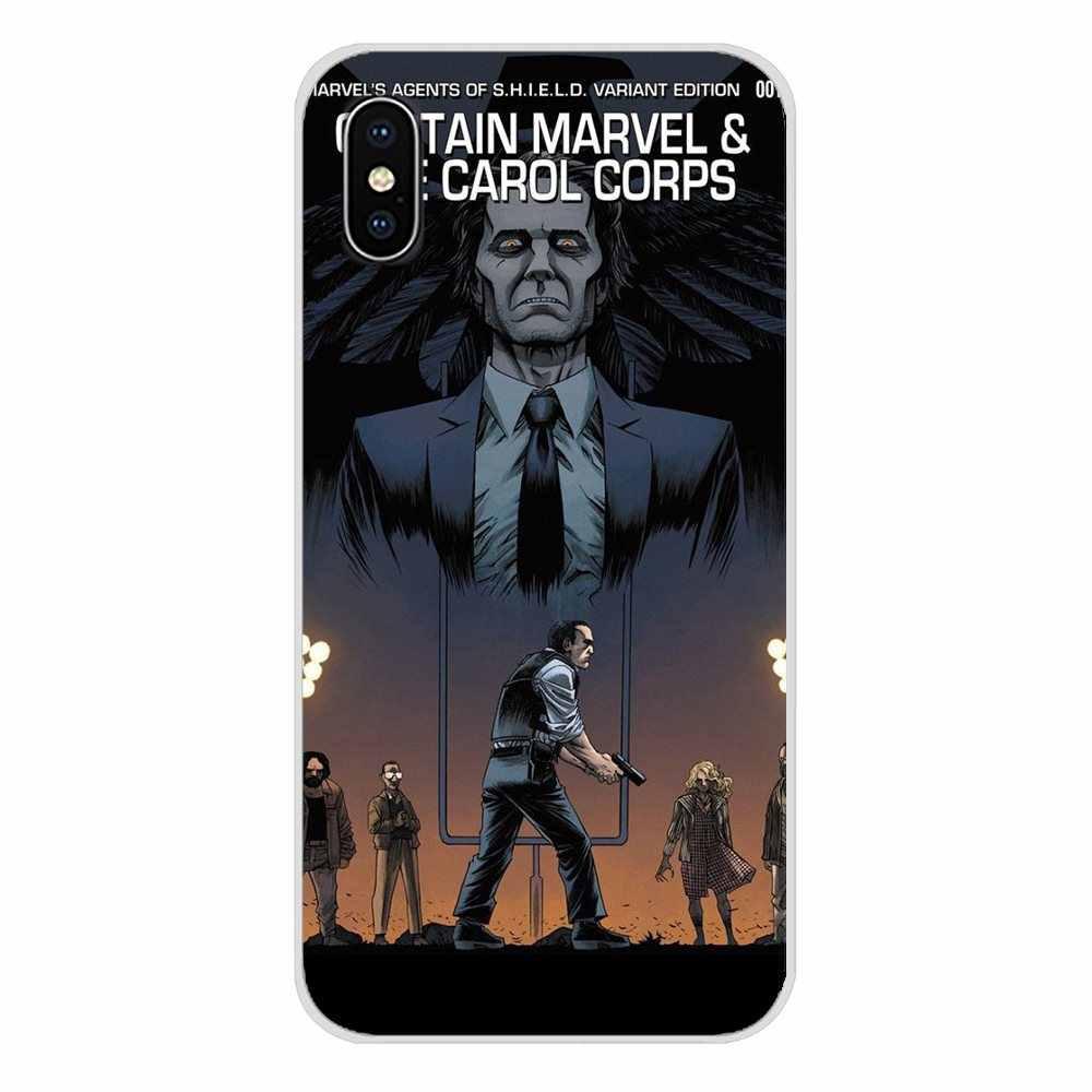 Marvel Agentes da shield SHIELD Para Samsung A10 A30 A40 A50 A60 A70 Galaxy Note 2 S2 3 Grand núcleo Prime Caixa Do Telefone Da Moda