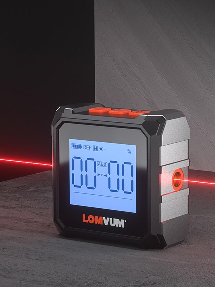 LOMVUM Digital Protractor Magnet Measuring-Tools Level Angel-Finder Inclinometer Laser