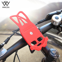 цена на XMXCZKJ Support GPS Bike Silicone Motorcycle Handlebar Stand For iPhone 7 Bike Holder Bicycle Cellphone Facility For iPhone Xr
