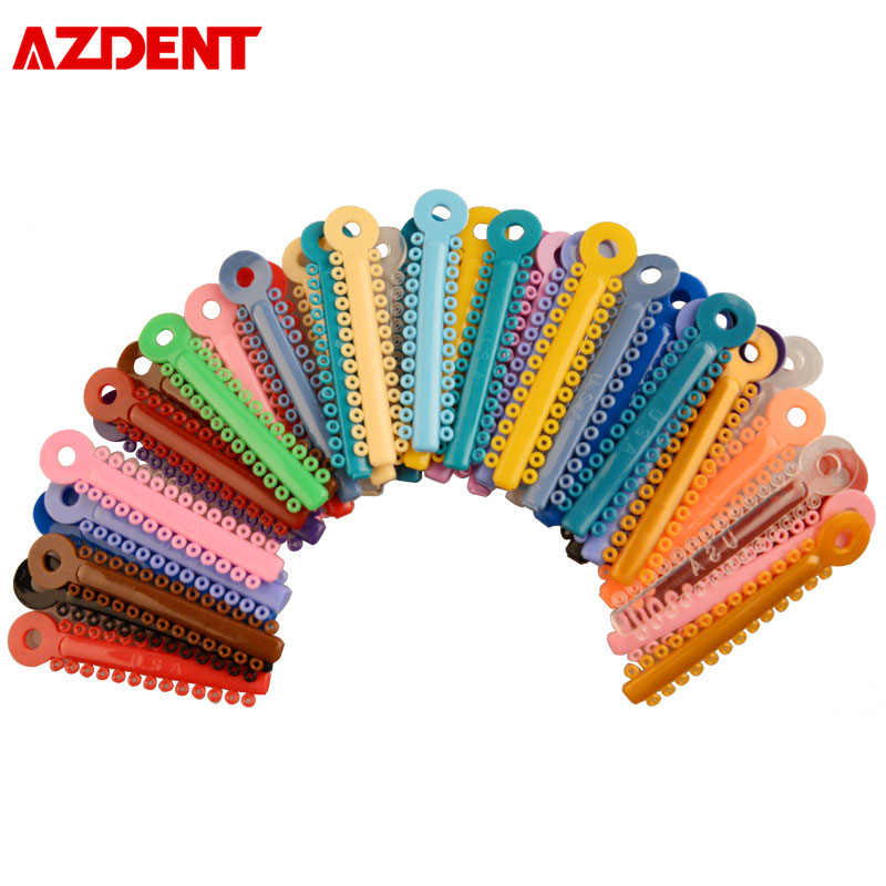 39 Sticks/Pack Dentist Orthodontic Correction Ligatures Braces Disposable Dental Material Mixed Transparent Color 26 Ties/Stick