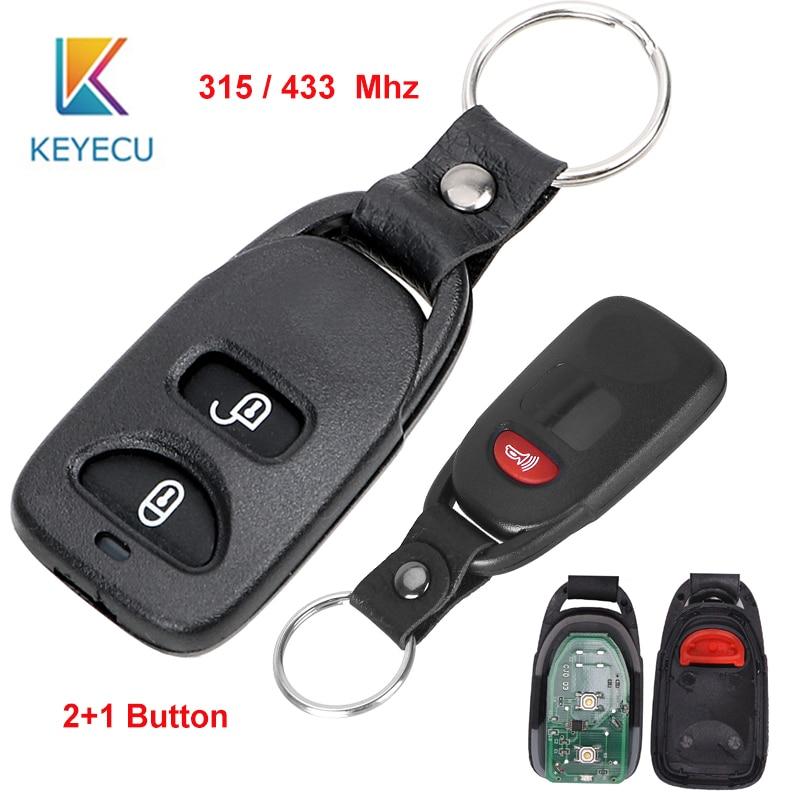 KEYECU for Hyundai Tucson Santa Fe 2005 2009 Replacement Remote Control Car Key Fob 315 / 433MHz 3 Buttons|Car Key| |  - title=