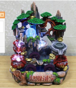 Альпинарий фонтан воды материал декорации расположение фэншуй колеса офисный Декор Офис ремесленные украшения для дома