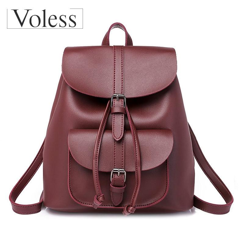 New Fashion Female Drawstring Travel Bags 2019 High Quality Retro School Women Rucksack Mochila Bolsa Feminina
