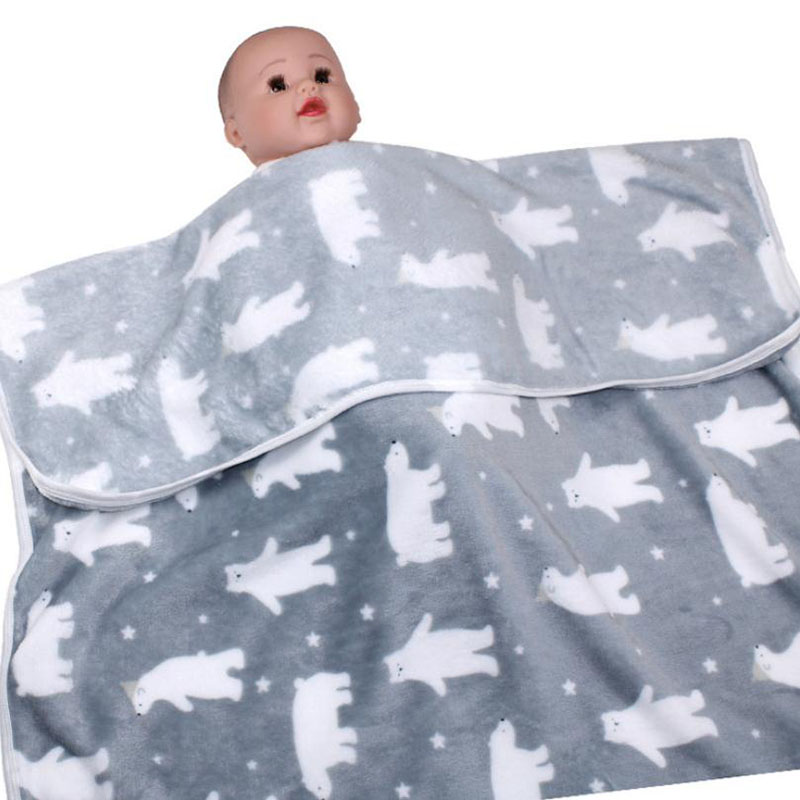Одеяло для новорожденных, хлопковое зимнее детское Пеленальное Одеяло 73*100 см, мягкое зимнее одеяло для новорожденных - Цвет: Color 8