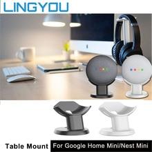 LINGYOU جبل حامل ل جوجل المنزل عش صغير صوت صغير المساعدين المدمجة حامل المطبخ غرفة نوم دراسة حامل الصوت Acesorios