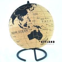 Globo de cortiça mapa do mundo o melhor desktop decoração presente de natal com todos os países e estados da américa e todos os oceano e ilhas