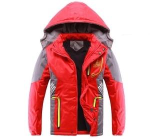Image 5 - 어린이 겉옷 따뜻한 코트 스포티 한 아이 옷 방수 windproof thicken boys 소녀 면화 패딩 자켓 가을, 겨울
