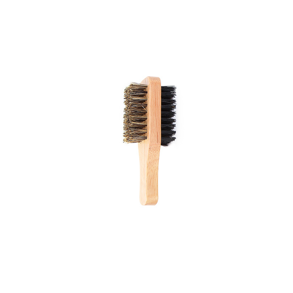 Antistatic Double-sided Hair Brush With Wooden Handle For Massage Facial Beard Hair Brush Wooden Handle Massage Facial Beard NEW