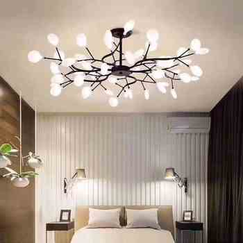 Modern firefly LED Chandelier light stylish tree branch chandelier lamp decorative firefly ceiling chandelies hanging Lighting