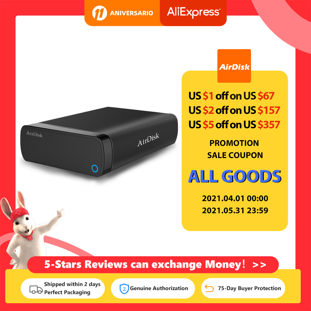Airdisk Q3X Mobile networking hard Disk USB3.0 NAS Family Network Cloud Storage 3.5