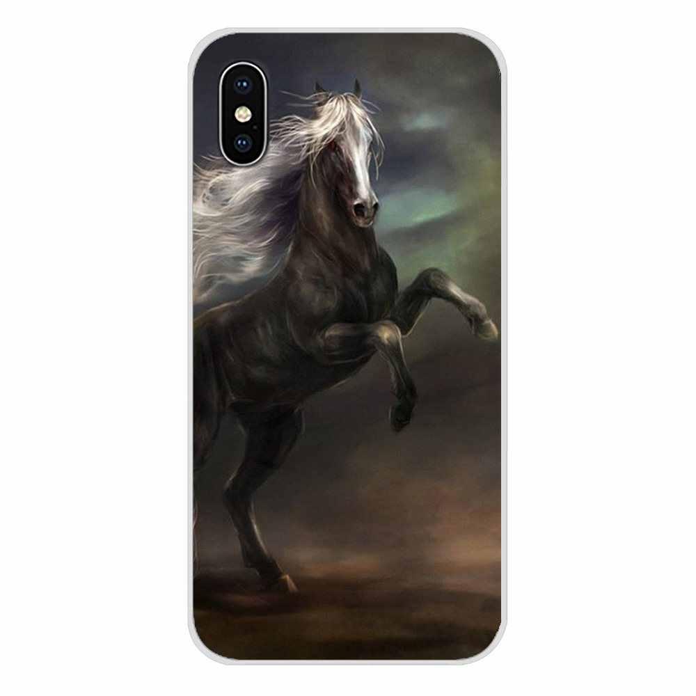لينة يغطي أسود أبيض بارد الخيال الخيول تشغيل ل شياو mi mi 4 mi 5 mi 5S mi 6 mi A1 A2 5X6X8 9 لايت SE برو mi ماكس mi x 2 3 2S