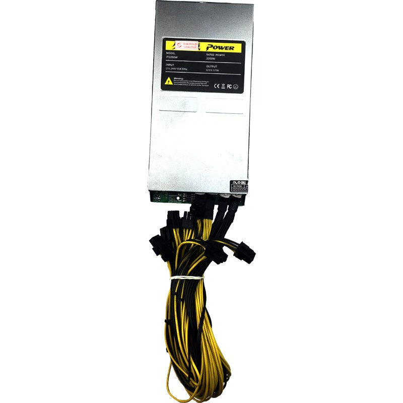 2200W 2U PSU PC Mining power mineirar eth 2000W 6 Pin Miner Power Supply for 6 GPU Bitcoin Antminer S9 S7 L3+ D3 T9 E9 852 E9i+ Баллон для дайвинга