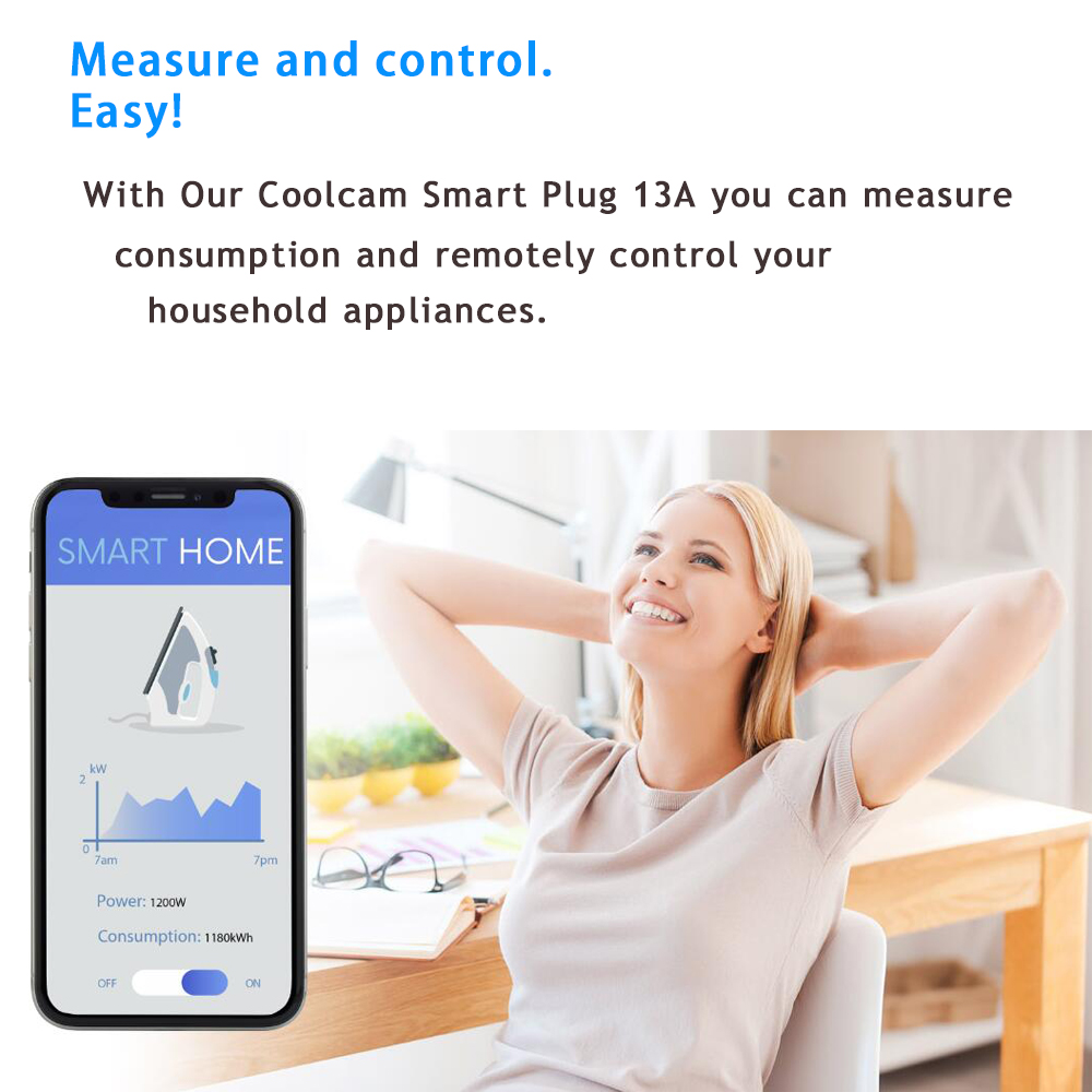Closeout DealsCoolcam Power-Plug-Socket ZWAVE Home-Automation-Alarm-System Smart Home PLUS EU Video-Frequency