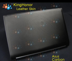 "KH Laptop Carbon fiber Crocodile Snake Leather Sticker Skin Cover Guard Protector for Asus N53 15""(China)"