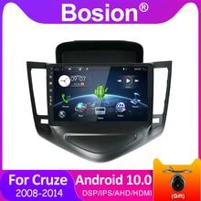 Bosion – lecteur multimédia à écran tactile de 9 pouces, avec DSP, unité principale, avec navigation GPS, 2din, sous Android 10.0, pour Chevrolet Cruze (2008 – 2014)