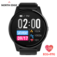 North Edge Smart Watch With Heart Rate Monitor ECG PPG Blood Pressure IP67 Waterproof Fitness Tracker Wristband Smart Watch