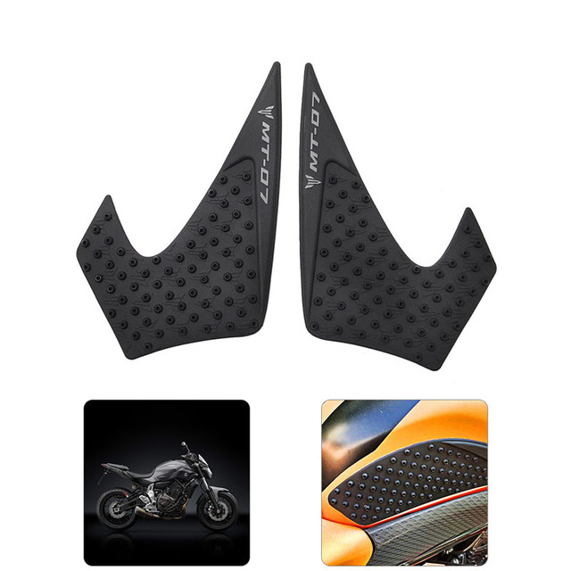 Motor Traction Pad Side Gas Knee Protector Anti Slip Fit For Yamaha MT 07 MT07 2014 2015 2016 2017
