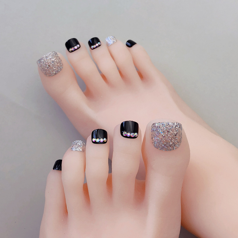 Toenail Patch Nail Sticker Toenails Finished Product Fake Nails Long-lasting Waterproof Wearable Deconstructable With Diamond Na