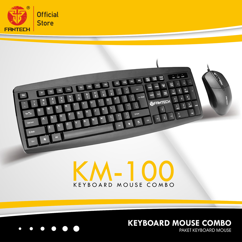 Fantech KM100 USB Keyboard Mouse Combo Black 4