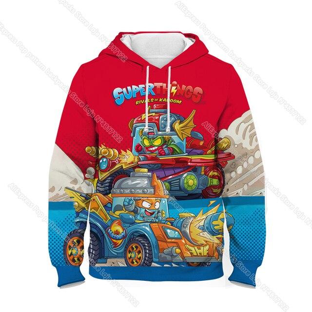 Children Super Zings Hoodie Boys Girls Cartoon 3D Printed Pullovers Kids Superzings Sweatshirt Harajuku Streetwear Spring Winter 2