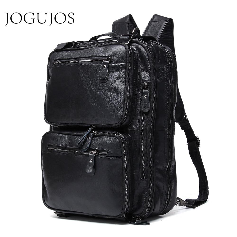 JOGUJOS Genuine Leather Vintage Men Travel Bag Duffel Bag Men's Handbag Luggage Travel Bag Large Capacity Leather Shoulder Tote