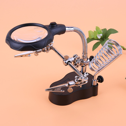 Welding Magnifying Glass With Led Light 3.5x-12x Lens Mg16126-a Bracket Reading Inspection Repair High-definition Jewelry Tools