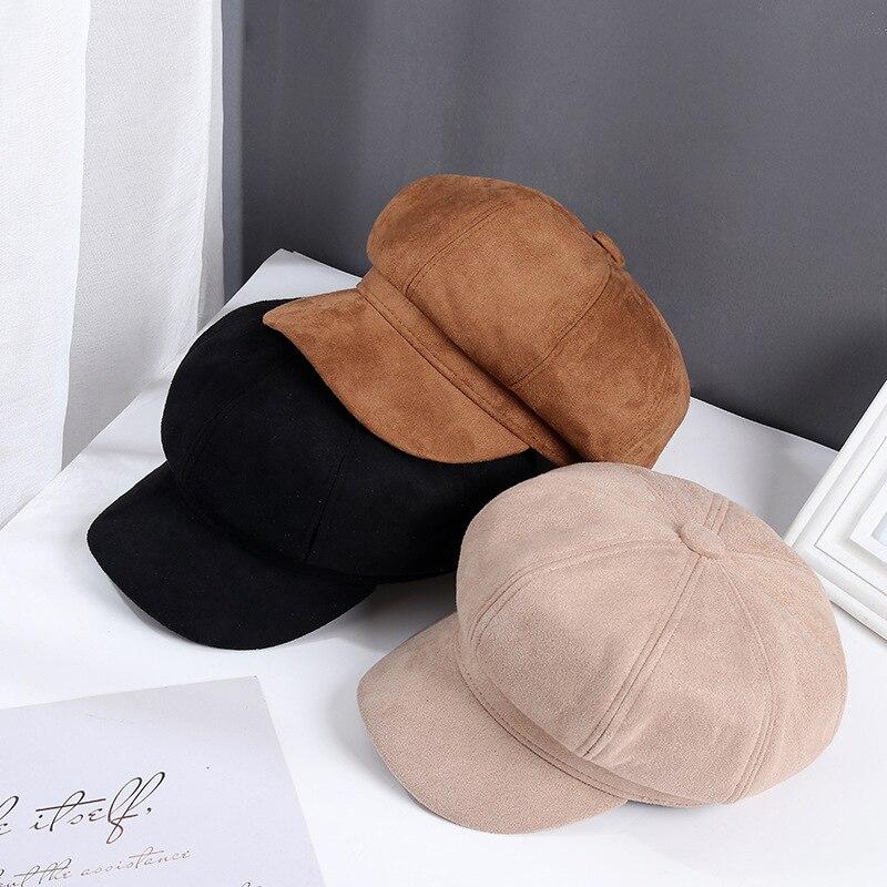 New Auutmn Winter Hats for Women Solid Plain Octagonal Newsboy Cap Men Ladies Casual Hat Winter Beret Women Painter Cap