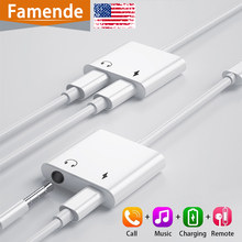 Jack Adapter For Iphone Headphone Adapter For Lightning To 3.5 mm Jack Headphone Splitter 7 8 X 11 Charger Audio Aux Adaptador