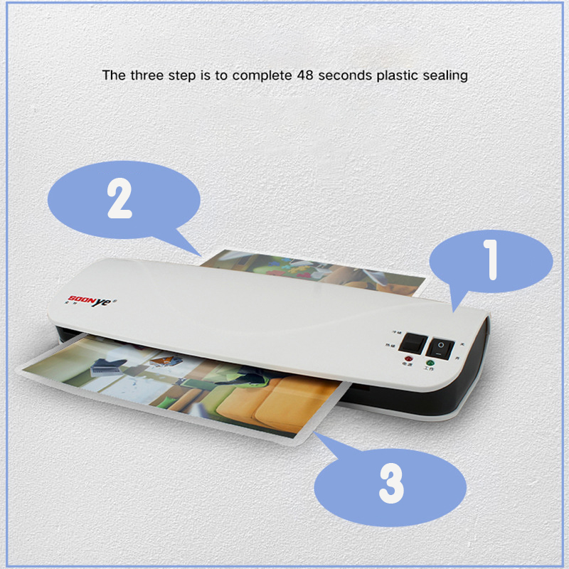 A4 Photo Hot and Cold Laminating Machine With Leg Membrane For Precious Photo