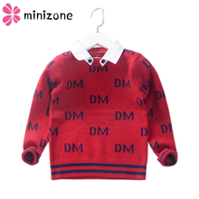 Get more info on the Boy Sweaters Fall 2019 New Casual Children Wool Knit Lapel Sweater Letter pullover for baby boys Girls Clothes Kids Infant Top X