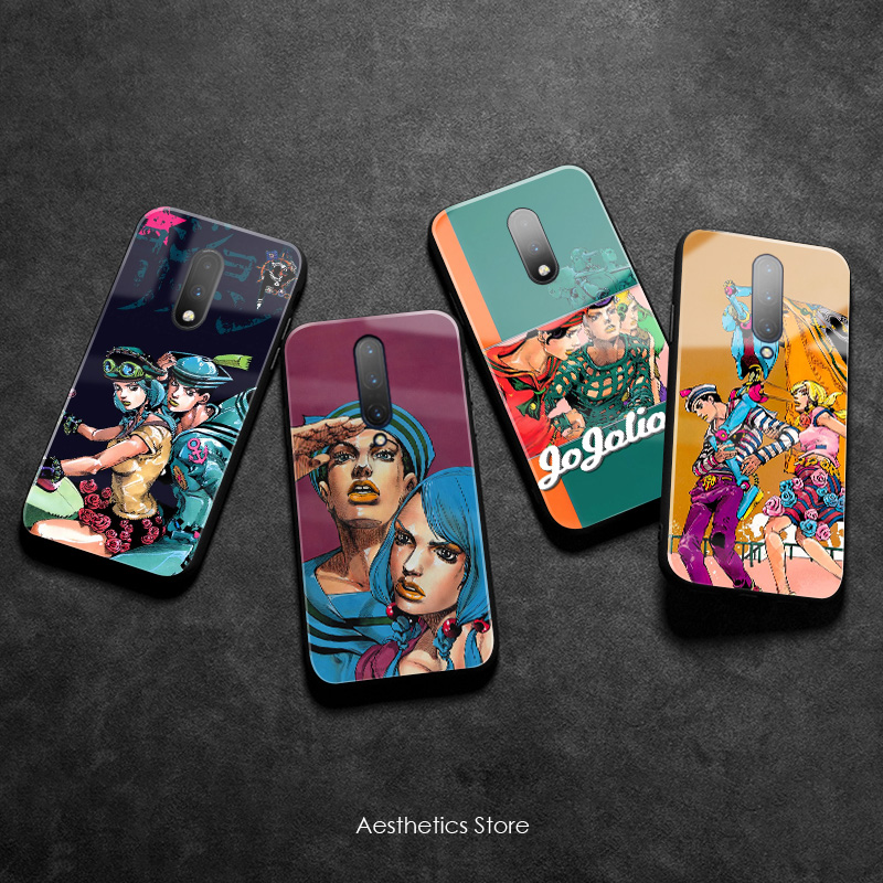 JOJO Part 8 JoJolion anime poster Tempered Glass Soft Silicone Phone Case Cover Smooth Shell for OnePlus 6 6T 7 7T Pro image