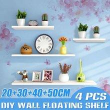 4 sztuk/zestaw drewniana półka organizator półka wyświetlacz pływający ścienny dekoracyjna półka na doniczki grafika łazienka kuchnia