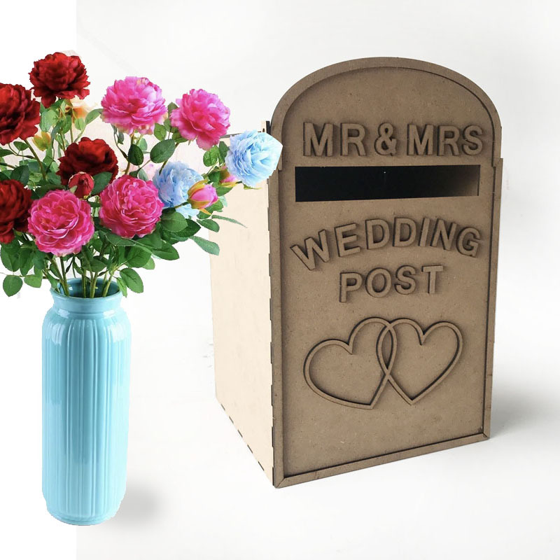 Solid Pine Fully Assembled Personalised Wedding Card Post Box Royal Mail Style Diy Wedding Gift Card Box Wedding Decor Supplies