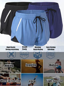 Shorts Fitness Women Exercise Sporting 120pc Wicking Quick-Dry Jogging Double-Layer Fake-2pieces