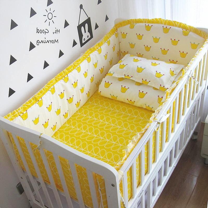 6/9pcs Baby Bed Crib Bumper Bedding Set Detachable Toddler Room Decor Portable Bed Toddler 120*60/120*70cm