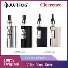 Oryginalny zestaw JUSTFOG C14 zestaw JUSTFOG Q14 z wbudowaną baterią 900mAh i 1 8ml Atomizer e-papieros zestaw do e-papierosa Vs JUSTFOG MINIFIT tanie tanio Z Baterią C14 Compact Kit JUSTFOG Q14 510 Thread 14 x 77mm 1 6ohm 34 2 x 18 4 x 62 7mm built-in 900mAh 1 0 - 3 0ohm 100 organic Japanese cotton