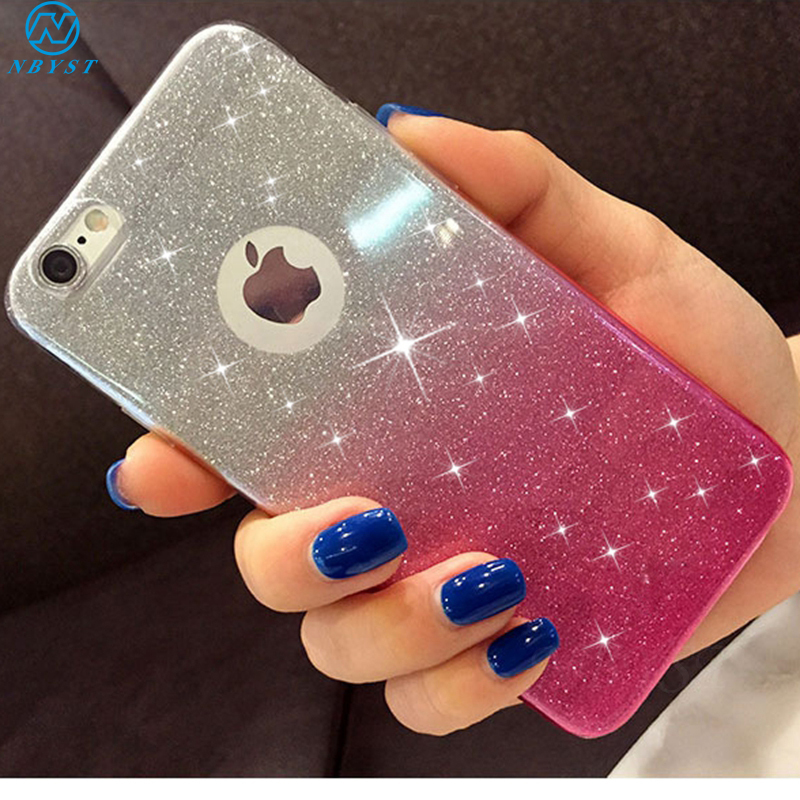 For <font><b>Iphone</b></font> 11 Pro Max Lovely Girl Glitter Soft Silicone <font><b>Case</b></font> for <font><b>Iphone</b></font> X XR XS MAX Cute Bling TPU Cover On <font><b>Iphone</b></font> 6 6S 7 <font><b>8</b></font> <font><b>Plus</b></font> image
